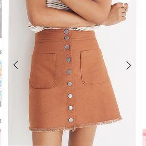 Madewell Button Down A Linen Mini Skirt Sz 2